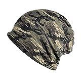 KISSTYLE 帽子 メンズ レディース ニット帽 薄手 オールシーズン 迷彩 カモフラ (ウッドランドD)