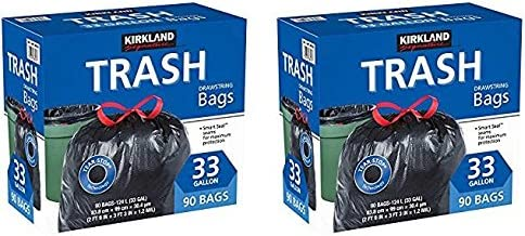 Kirkland Signature XSXV Drawstring Trash Bags スピード対応 全国送料無料 Gallon サービス XL S 33 -