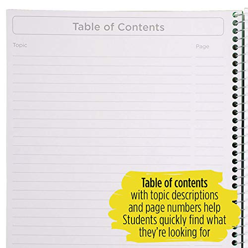 """Five Star Interactive Notetaking, 1 Subject, Wide Ruled Spiral Notebooks, 100 Sheets, 11"""" x 8-1/2"""", 3 Pack (38599) Photo #10"""