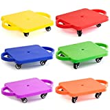 GSE Games & Sports Expert Gym Plastic Scooter Board with Handles (6 Colors Available) (6-Pack)
