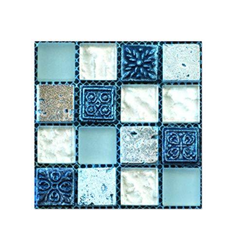 20 azulejos autoadhesivos 3D para cocina, baño, decoración creativa de mosaico, pegatinas de pared para cocina, pegatinas impermeables