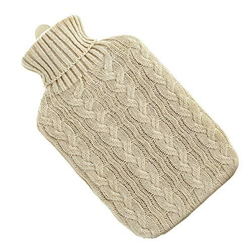 Botella de goma de agua caliente con cubierta para liendres, calentador de manos para el hogar y al aire libre, bolsa duradera y terapia de frio
