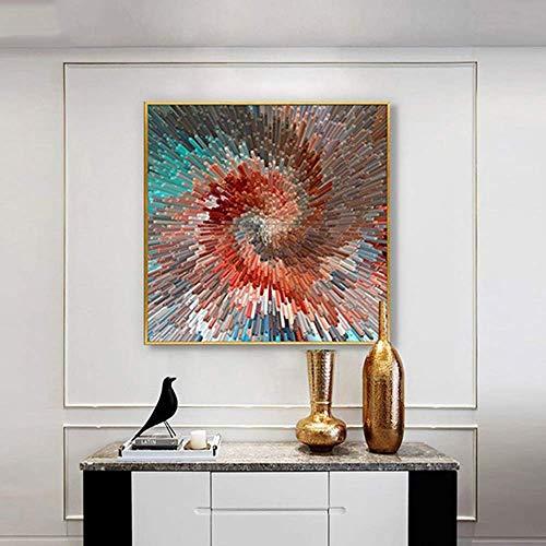 Tokyia Extracto moderno de la sala de estar dormitorio de pintura decorativa Corredor Porche Sofá moderno de la pared Pintura Decoración de escritorio simple geométrica restaurante Mural 60 * 60cm vid