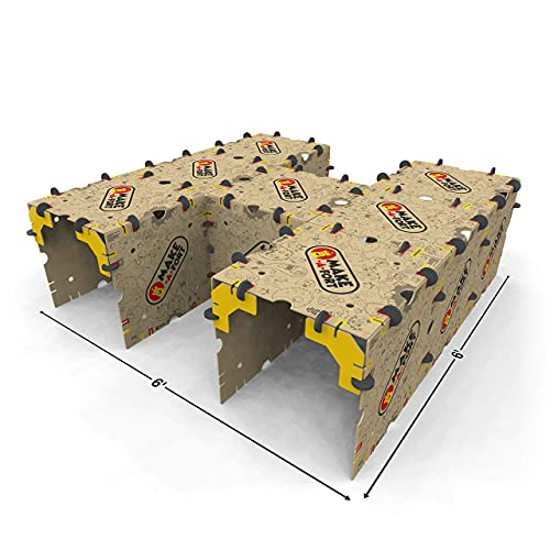 Make-A-Fort Building Kit - Build Really Big Indoor Forts for Kids - Get Kids Off Screens and Engaged in Creative Play - Durable, Reusable, and 100% Made in USA