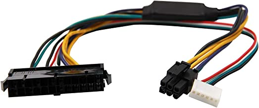 24-Pin to 6-Pin PCI-E PSU ATX Main Power Adapter Cable 18AWG for HP Z220/Z230 Workstation 30cm