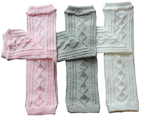 Toptim Baby Knitted Leg Warmers for Little Girls, Toddlers & Children (Color of 3)
