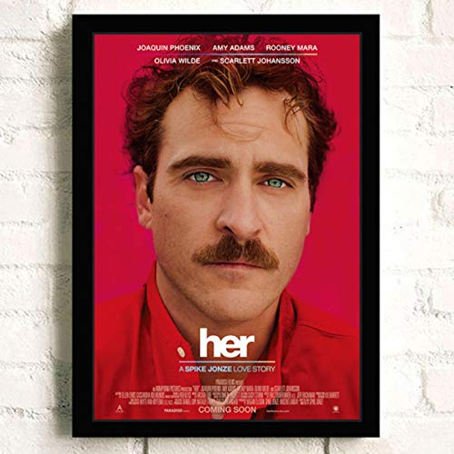 lubenwei Her Joaquin Phoenix Classic Movie Wall Art Home Decor Canvas Painting Art Nordic Decoration Bar Cafe Room Poster 40x60cm No frame (WA-2276)