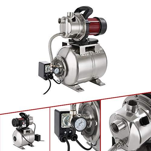 Arebos Hauswasserwerk / 1200 Watt/Fördermenge 3800 l/h/Förderhöhe 48 Meter / 19 l Tank/GS geprüft