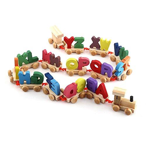 Zerodis Zahlenzug Vorschulspielzeug Pädagogisches Spielzeug Holz Geburtstag Geschenke für Kinder Kleinkinder (#2)