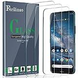 Ferilinso Compatible avec Verre Trempé Nokia 8.3 5G [Super Coverage], [3 Pack] Housse en Verre...
