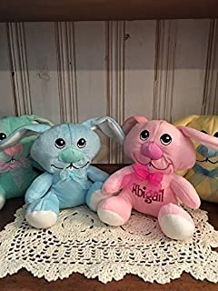 13600d2426c9 Personalized   Monogram   Small Easter Plush  Big Nose Floppy Eared Bunny   Stuffed  Toy