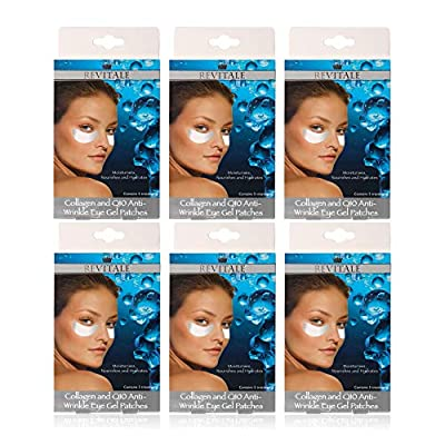 6 Box of Eye Gel Patches Of Revitale Collagen & Q10 Anti-Wrinkle Eye Patches. Total 30 Pairs by Revitale