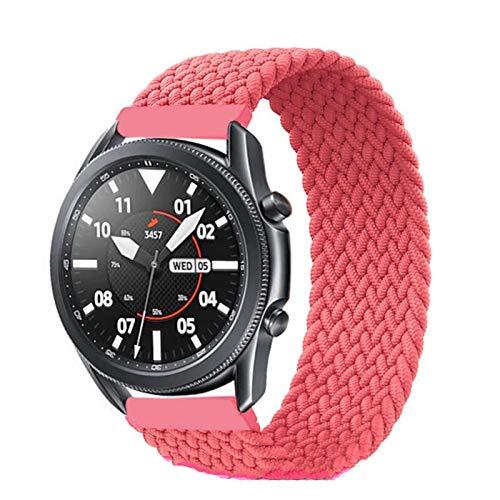 MPWPQ Banda de Bucle Solitario Trenzada de 20 mm / 22 mm para Samsung Galaxy Watch 3 / 46mm / 42mm / Activo 2 / Engranaje Pulsera S3 para Huawei Watch GT / 2 / 2e / Pro Correa de Reloj de Reloj