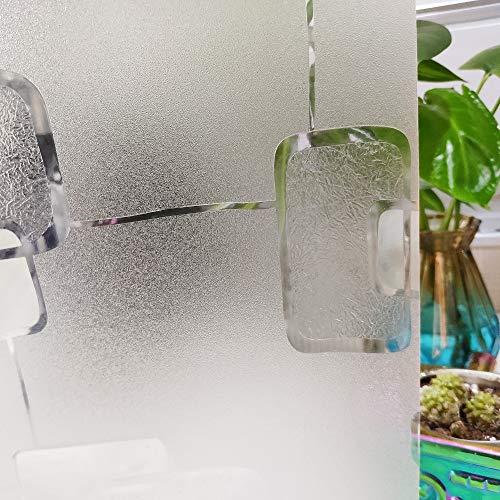 LMKJ Película de Vidrio con patrón geométrico, película Adhesiva estática, Varios tamaños, Aislamiento térmico, película extraíble Reutilizable A123 30x100cm