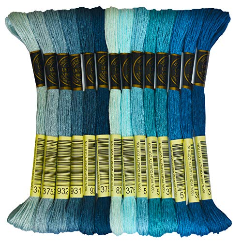 Bright Turquoise Embroidery Thread