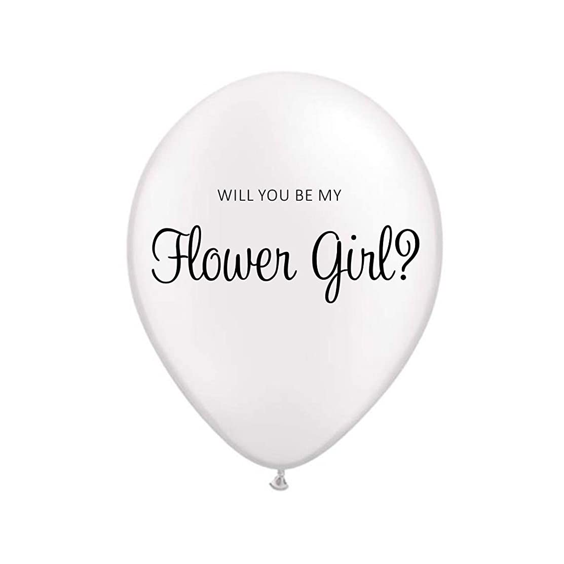 White Will You Be My Flower Girl Balloon, Will You Be My Flower Girl Invitation, Cute Invitation, Girl Invitation, Flower Girl Invitation, Ballons