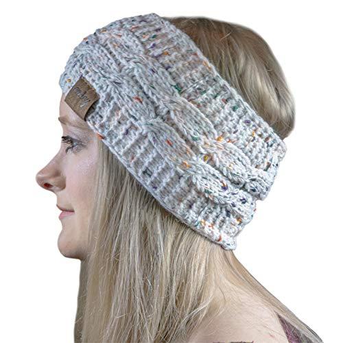 Cosey - gevoerde zacht gebreide hoofdband met binnenste fleece in verschillende uitvoeringen