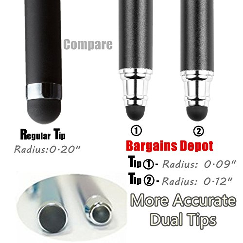 B&D Universaler Stylus-Eingabestift 2-in-1, für Touchscreens, Stift für Apple iPad, iPhone, iPod, Tablet, Galaxy, LG und HTC