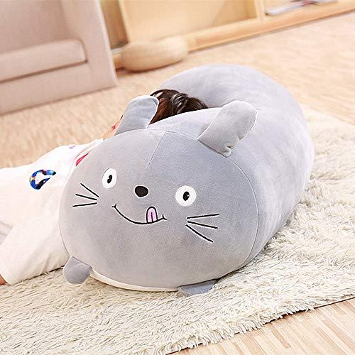 YUY Almohada Animales Squishy Cat Squishy Chubby Animal Lindo De Peluche De Juguete Cojín De Dibujos Animados Suave para Niños Regalo De Novia 30 Cm,GreyCat