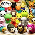 URSKYTOUS 60Pcs Animal Pencil Erasers Bulk Kids Japanese Come Apart Puzzle Eraser Toys for Party Favors, Classroom Prizes, Carnival Gifts and School Supplies(Random Designs) by URSKYTOUS