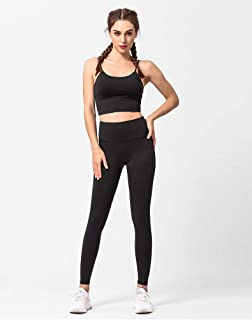 Classic Crop Top and Yoga Leggings Workout 2 piece sets for Women