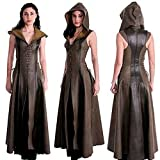 Black Sugar Manteau Femme Arc Fleche Medieval Tunique déguisement Robe Ensemble Lacet Steampunk Moyen Age (XXL)