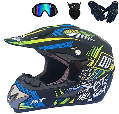 NJYBF - Casco de motocross, moto, todoterrenos, bicicleta de montaña, ciudad, descensos,...