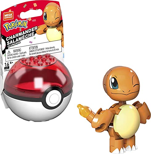 Mega Construx GVK62 - Pokémon 25. Jubiläum Glumanda Bauset mit 16 Bausteinen, ab 6 Jahren [Exklusiv bei Amazon]