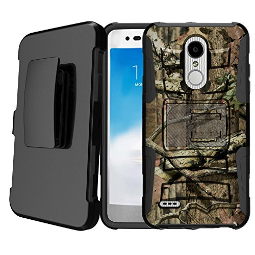 Untouchble   Compatible with LG Stylus 4, LG Stylo 4 Holster Case [Heavy Duty] Shockproof Dual Layer Future Armor Kickstand Case with Holster Belt - Hunting Tree Camo