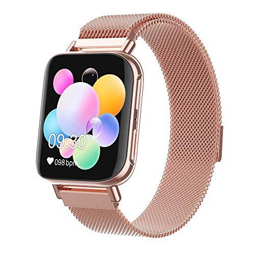 ZHENAO Smart Watch, Pulsera Inteligente de Pantalla de Color de 1.54 Pulgadas, Seguimiento de Deportes Impermeables Seguimiento de Aptitud Física, Relojes para Hombres Y Mujeres Exq
