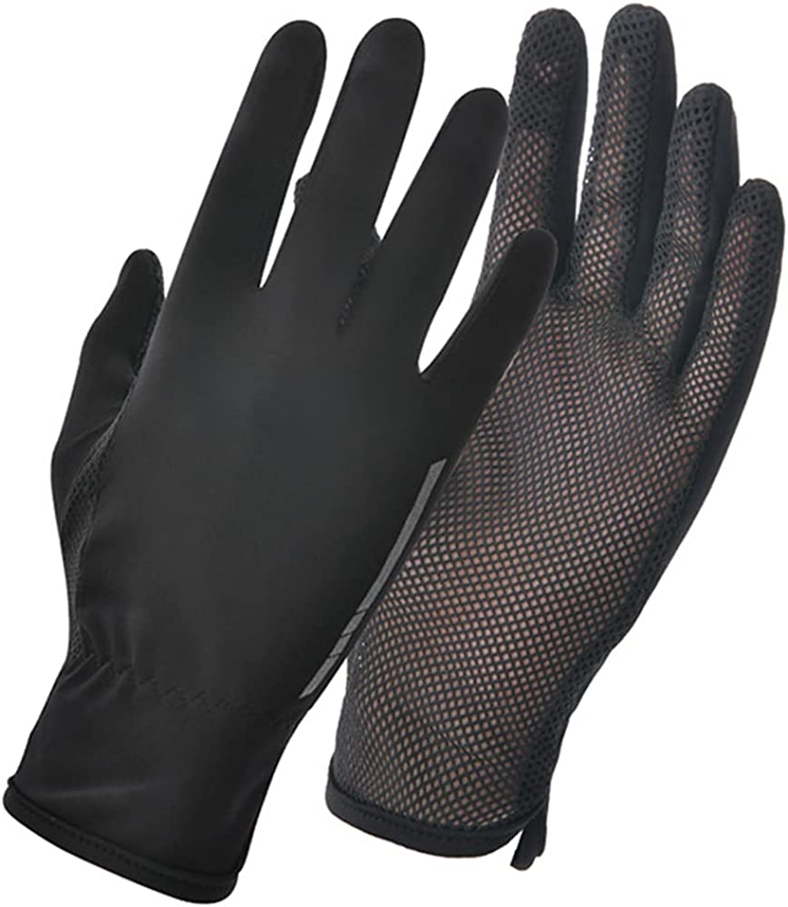 Women's UPF 50+ UV Protection Mesh Palm Touch Screen Driving Gloves