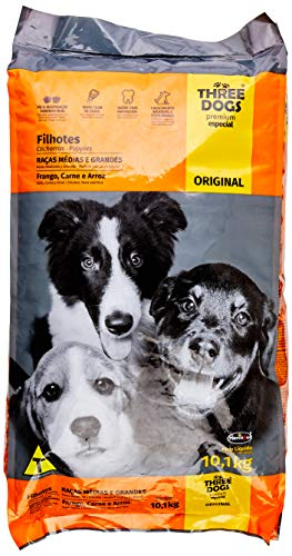 The Original Three Dog Food Chicken, Meat and Rice for Medium and Large Breed Puppies Biofresh, Chicken Flavor 10.1kg