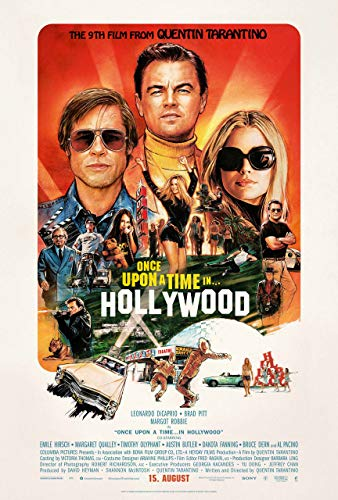 Laur UK Poster Once UP A TIME IN Hollywood - U.S Filmposter, 60 x 91,5 cm, 420 x 297 mm, Einmal, 91.5x61cm