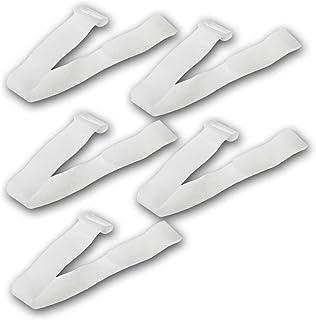 kabelbinder Klettband Klettverschluss mit Öse   30cm lang 2cm breit I Sicheres Verstauen von Kabel und Leitungen I 5er Pack Weiß