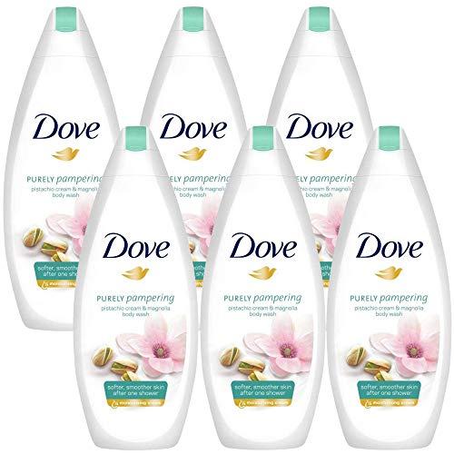 Dove Purely Pampering Pistachio Cream with Magnolia Body Wash - 6 Packs x 16.9 Fl.Oz / 500ml Ea