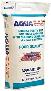AquaSalt Chlorine Generator Salt For Swimming Pools - Qty. 6 (40 Lb. Bag)