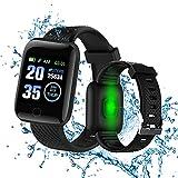 Smartwatch,Reloj Inteligente con Oxígeno Sanguíneo Presión Arterial Frecuencia Cardíaca, Cronómetros,Podómetro Monitores de Actividad,FitnessCalorías,Monitor de Sueño