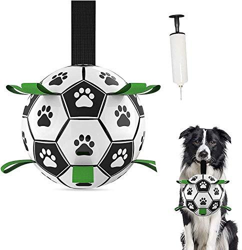 Haustierspielzeug,Hundeballspielzeug,Fußball mit Greifflaschen,Interaktiver Schwimmender Ball,IQ-Trainingsball ,Kauspielzeug,Fussball für Hunde,langlebiges Hundespielzeug (Fußball)