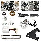 Fetcoi Kit de conversión para bicicletas eléctricas, kit de reequipamiento de bicicleta eléctrica, motor de rueda libre eléctrica con bicicleta eléctrica y accionamiento a la derecha, 450 W, 24 V