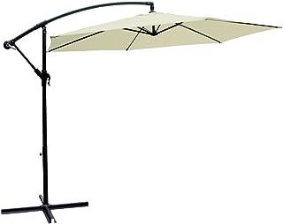 AKTIVE Garden 53887 Parasol excéntrico Banana, diámetro 300 cm, crema mástil aluminio