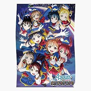Kunikida Hanamaru Happy Party Kanan Train Matsuura Tour Regalo para la decoración del hogar Wall Art Print Poster 11.7 x 16.5 inch