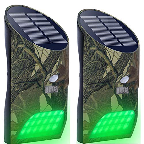 Lilbees Solar Hunting Feeder Lights with Motion Activated for Hog Pig Predator Coyote Varmint Deer Night Hunting(FL1-P2)(Pack of 2)