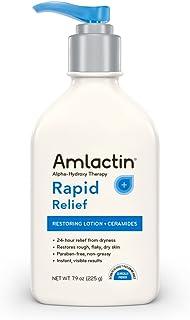 AmLactin Rapid Relief Restoring Lotion + Ceramides, 7.9 Ounce, Paraben Free