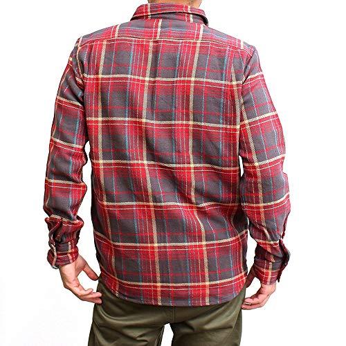 FIVEBROTHER[ファイブブラザー]ネルシャツヘビーフランネル長袖ワークシャツ(57-151960)チェックマスタード(M)