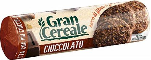 Gran Cereale Biscotti Gran Cereale al Cioccolato, Biscotti dal Gusto Pieno Ricchi di Fibra e Fosforo - 230 g