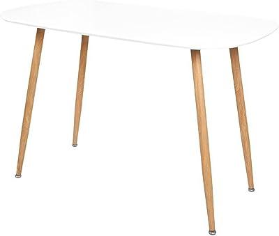 ZONS Stockholm Table Salle À Manger L120xl70xH75cm Blanc
