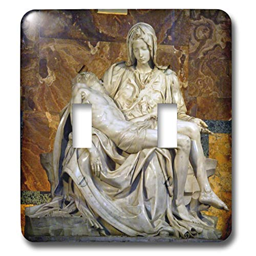 2 Gang Wall Plate Cover Decorator Wall Switch Light Plate Double Toggle Switch Italy Rome Vatican St Peters Basilica Pieta Classic Beadboard Unbreakable Faceplate
