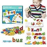 ZWOOS Matching Letter Game, ABC Alphabet Flash Cartes orthographe Jeu Apprentissage pour 3 4 5 Ans Enfant pour Les Enfants de Maternelle préscolaire