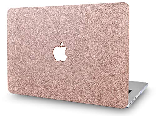 KECC Laptop Case Compatible with MacBook Pro 15 (2019/2018/2017/2016) Plastic Hard Shell Cover A1707/A1990 (Rose Gold Sparkling)