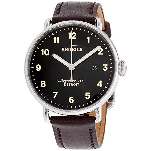 Shinola The Canfield Herren-Armbanduhr 43mm Armband Leder Braun Quarz 20001939